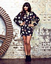 Jameela Jamil Tie Neck Playsuit