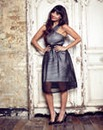 Jameela Jamil Mesh Crossover Dress