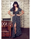 Jameela Jamil Star Print Maxi Dress