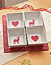 Reindeer 5 Piece Dip Tray Set