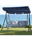 Toulouse Navy Striped 2-Seater Swing