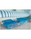 Pair of Underbed Boxes with Lids - Blue