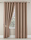 Plain Dye Sateen Lined Eyelet Curtains