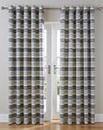 Denver Boucle Stripe Lined Curtain