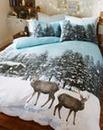 Winter Scene Duvet Cover Set
