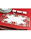 Poinsettia Placemats Set of 6