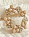 Gold Belle Epoch Pearl Wreath Brooch