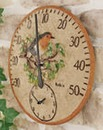 All Weather Outdoor Clock Thermometer