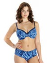 2 Pack Wired T Shirt Bras Print/Blue