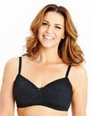 2 Pack Non Wired Black/Cream Bras
