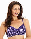 Full Cup Wired Purple Spot Bra