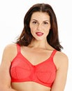 Dotty Full Cup Non Wired Red Bra