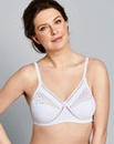 2 Pack CrissCross Cotton Rich White Bras