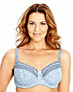 2 Pack Balcony Wired Blue Print Bras