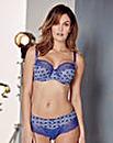 Panache Jasmine Mosaic Blue Balcony Bra