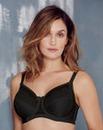 Glamorise Elegance Satin Lace Black Bra