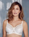 Glamorise Elegance Satin Lace Ivory Bra