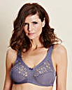 Naturana Lace Non Wired Charcoal Bra