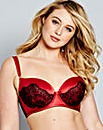 Always Aliza Satin And Lace Balcony Bra