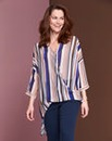 Simply Be Stripe Wrap Blouse