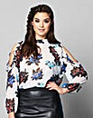 Simply Be Ruffle Cold Shoulder Blouse