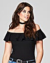Simply Be Ruffle Off The Shoulder Body