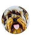 Glass Dog Clock