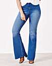 Simply Be Phoebe Flared Jeans Short