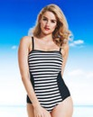 Simply Yours Stripe Bandeau Swimsuit