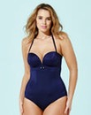 Gossard Retro Button Plunge Swimsuit