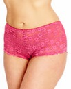 2 Pack Black Raspberry Daisy Lace Briefs