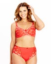 Shapely Figures Red Ava Non-Wired Bra