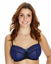 Full Cup Wired Embroidered Cobalt Bra