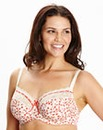 2 Pack Balcony Wired Print Pink Bras