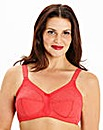 2 Pack Full Cup Non Wired Red/White Bras