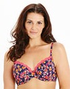 2 Pack Plunge Wired Print Plain Bras