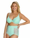 T Shirt Wired Geometric Lace Mint Bra