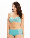 Multiway Wired Embroidered Teal Ava Bra