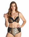 Plunge Wired Tiger Print Bra
