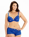 Daisy Lace Plunge Wired Cobalt Bra