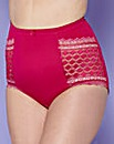 High Waist Geo Lace Berry Briefs