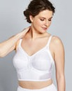 White Dotty Longline Non Wired Bra