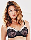 Full Cup Wired Black Lace Bra