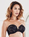 Ella Multiway Wired Black/Gold Bra