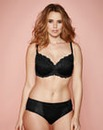 Ruby Full Cup Wired Padded Black Bra
