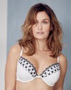 2 Pack Emb Plunge Wired Black/White Bras