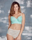 Corded Lace Midi Wired Mint Bra