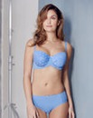 2 Pack Star Mesh Blue/Coral Balcony Bras