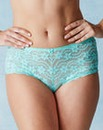Daisy Lace Mint Shorts