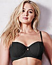 2Pk Stripe Balcony Black/Blush Bras